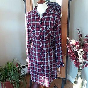Rails Plaid Hi Low Dress